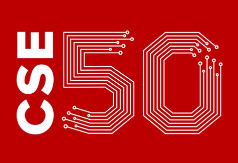 Computer Science and Engineering 50th Anniversary logo