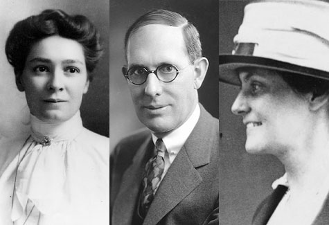 From left: Bertha Lamme, Charles Kettering and Florence Rector