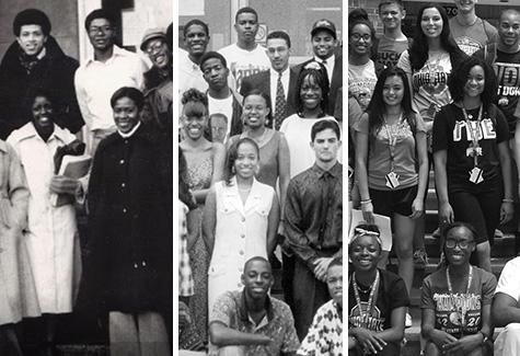 Past and present members of the Minority Engineering Program